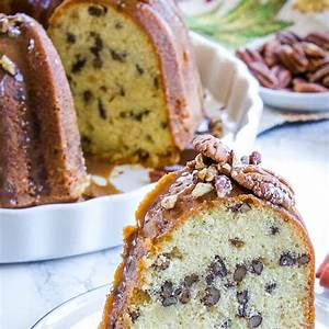 southern-butter-pecan-pound-cake-with-maple-glaze image