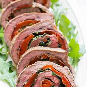 rolled-stuffed-flank-steak-recipe-simply image