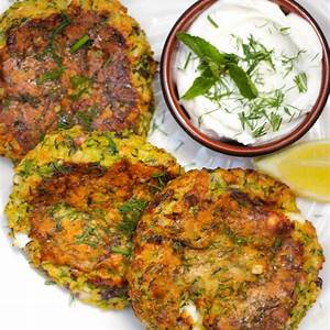easy-courgette-fritters-recipe-oven-baked-with-feta-cheese image