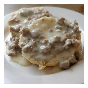 biscuits-and-homemade-turkey-gravy-tasty image