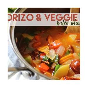 chorizo-and-veggie-stew-30-minute-meal-with-slow-cooker image