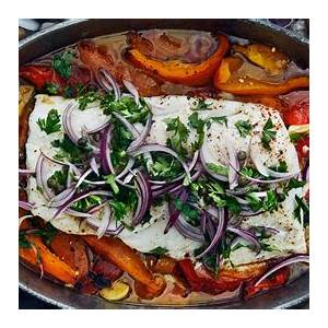 slow-roasted-cod-with-bell-peppers-recipe-bon-apptit image