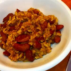 vegan-cajun-red-beans-and-rice-spicy-delicious image
