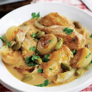 chicken-with-sherry-mustard-olives-recipe-house-home image