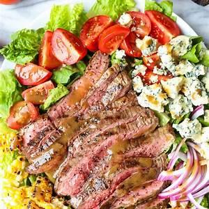 grilled-steak-salad-with-balsamic-vinaigrette-damn-delicious image