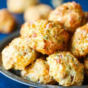 ham-and-cheese-drop-biscuits-damn-delicious image