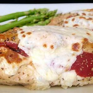 roasted-red-pepper-and-mozzarella-stuffed-chicken image