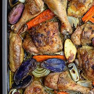 sheet-pan-rosemary-chicken-recipe-with-vegetables image