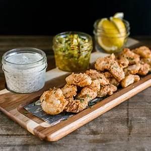 southern-fried-grouper-cheeks-artichoke-corn-chow-chow image