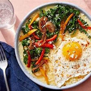 cheesy-southern-style-grits-with-collard-greens image