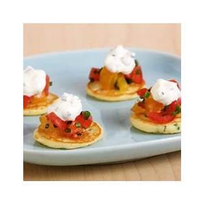 mini-blini-pancakes-with-lemon-chives-recipes-food image