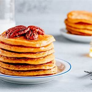 sour-cream-buttermilk-pecan-pancakes image