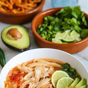 tortilla-soup-recipe-with-chicken-pooks-pantry-recipe-blog image