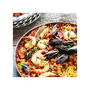 seafood-paella-recipe-simply image