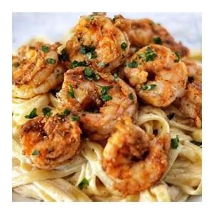 the-best-cajun-shrimp-fettuccine-alfredo-pasta image