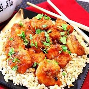 sweet-chili-shrimp-with-ginger-cilantro-kudos-kitchen-style image