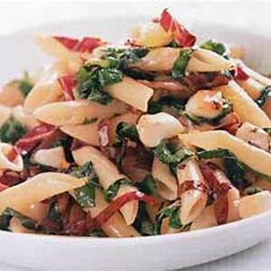 penne-with-wilted-arugula-radicchio-and image