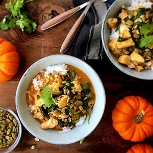 pumpkin-curry-with-chicken-and-spinach-kid-friendly image