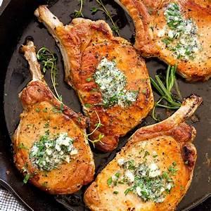 pan-fried-pork-chops-with-garlic-butter-jessica-gavin image