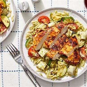 recipe-seared-chicken-over-orzo-pasta-with-tomatoes image