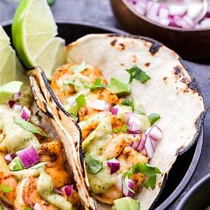 shrimp-tacos-with-avocado-salsa-verde-recipe-runner image