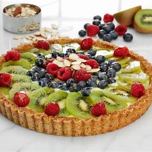 mixed-fruit-almond-tart-recipe-fisher-nuts-food-network image
