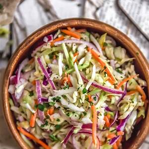 sweet-and-tangy-vinegar-coleslaw-monkey-and-me-kitchen image