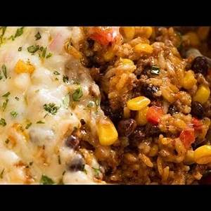 mexican-ground-beef-rice-casserole-youtube image