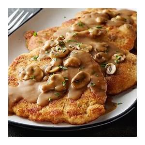 crispy-fried-pork-chops-jaeger-schnitzel image