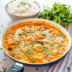 easy-one-pan-coconut-curry-shrimp-easy-meal-idea-the image