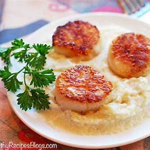 seared-scallops-with-butter-and-olive-oil-healthy image