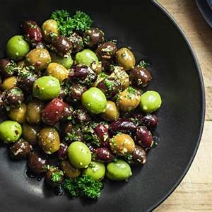marinated-olives-recipe-with-garlic-herbs-low image