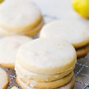 buttery-lemon-shortbread-cookies-with-a-glaze-the image