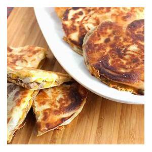 fast-and-easy-sausage-and-egg-breakfast-quesadillas image