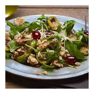 brussels-sprouts-with-farro-and-shallot-honey-vinaigrette image