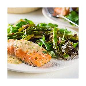 slow-roasted-salmon-with-lemon-butter-sauce-the-flavor image