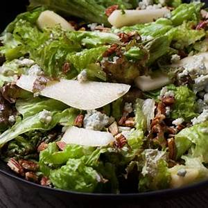 green-salad-with-pears-pecans-and-blue-cheese-the image
