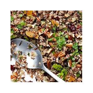 cranberry-pecan-wild-rice-stuffing-recipes-food-network image