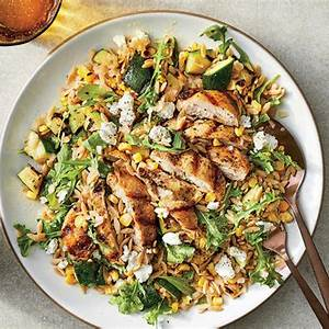 grilled-chicken-and-vegetable-orzo-salad image