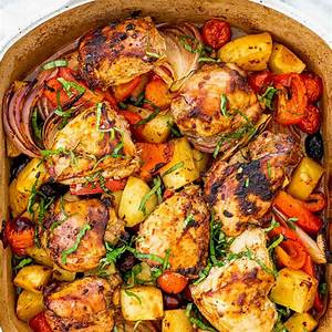 roasted-chicken-and-vegetables-jo-cooks image