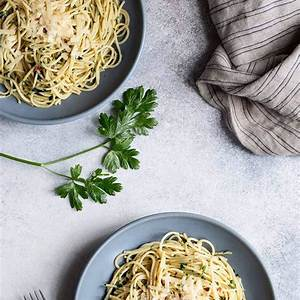 anchovy-pasta-with-garlic-and-parsley-savory-simple image