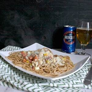 chicken-pasta-in-creamy-beer-sauce-chews-and-brews image