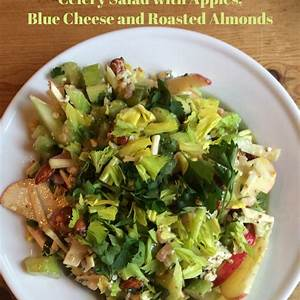 celery-salad-with-apples-blue-cheese-and-roasted-almonds image