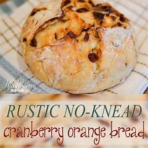 rustic-no-knead-cranberry-orange-bread-huckleberry image