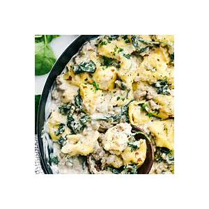 creamy-sausage-tortellini-skillet-recipe-the-recipe-critic image