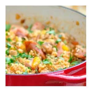 jambalaya-with-chicken-sausage-and-ham-recipe-flavorite image