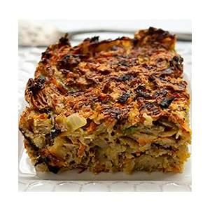 savory-matzo-farfel-kugel-for-passover-omg-yummy image