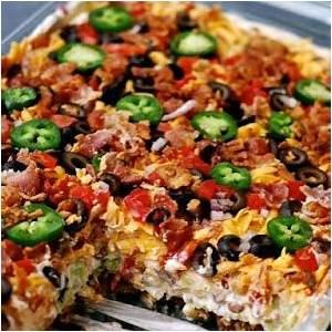 layered-taco-salad-in-a-cake-pan-susan image