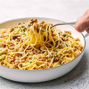 bratwurst-pasta-recipe-in-a-buttery-beer-sauce-posh image