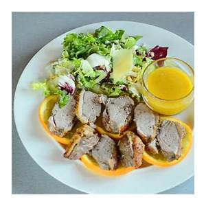 duck-breasts-with-oranges-and-honey-mustard-sauce-easy image
